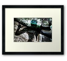 man's attempt to be one with nature Framed Print