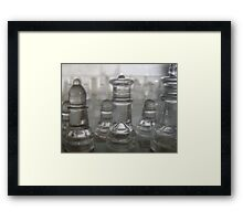 Transparent Moves Glass chess pieces Framed Print