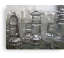 Transparent Moves Glass chess pieces Canvas Print