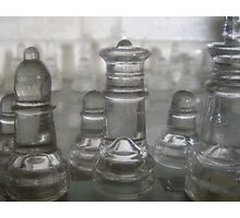 Transparent Moves Glass chess pieces Photographic Print