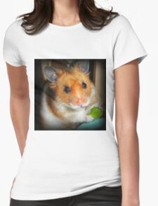 Hamster Barney Womens Fitted T-Shirt