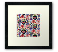 Steampunk Romance Hearts and Flowers Framed Print