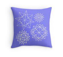 Papercut star pattern 1 Throw Pillow