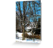 House on the Hill in Winter Greeting Card