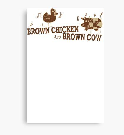 Brown Chicken Brown Cow Canvas Print