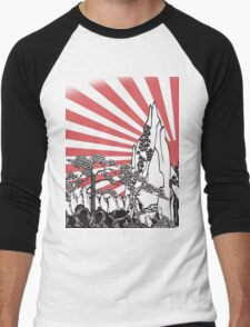 Japanese Landscape T Men's Baseball ¾ T-Shirt