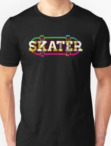Colorful Skater Typo T-Shirt