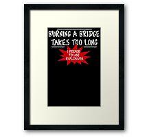 Burning Bridge Framed Print