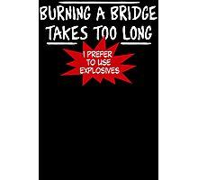 Burning Bridge Photographic Print