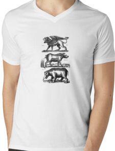 Griffin & Hippopotamuses Mens V-Neck T-Shirt
