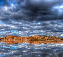 Cloudy Reflection 1 by Bob Larson