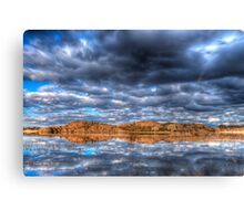 Cloudy Reflection 1 Canvas Print