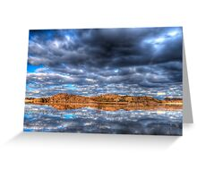 Cloudy Reflection 1 Greeting Card
