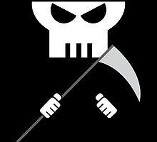 Grim Reaper minimalist design by caseyydawggehhh