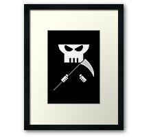 Grim Reaper minimalist design Framed Print