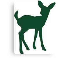 Baby Fawn, Deer Silhouette Canvas Print