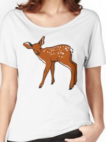 Baby Fawn, Deer Drawing Women's Relaxed Fit T-Shirt