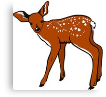Baby Fawn, Deer Drawing Canvas Print