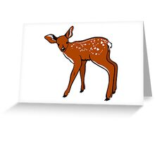 Baby Fawn, Deer Drawing Greeting Card