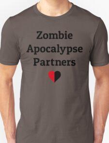 zombie apocalypse partners heart halves Unisex T-Shirt