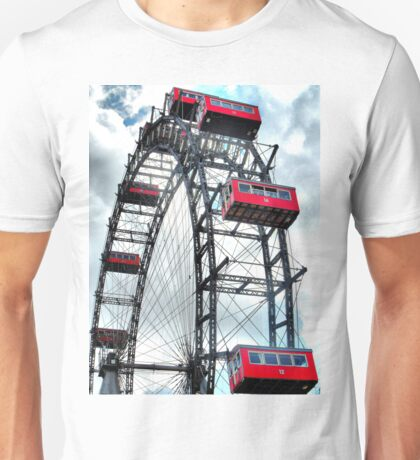 Viennese Giant Wheel in Colour Unisex T-Shirt