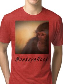 Monkeys Rock Tri-blend T-Shirt