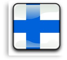 Finland Flag Icon Canvas Print