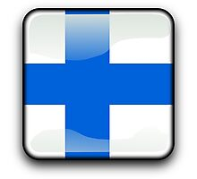 Finland Flag Icon Photographic Print