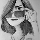 Self Portrait Quick Sketch by Allison Aboud