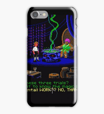 Asking about the Three Trials (Monkey Island 1) iPhone Case/Skin