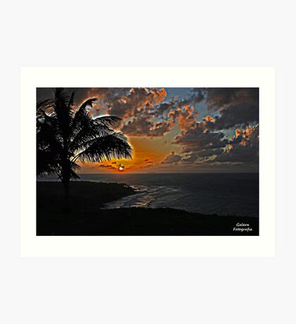 Golf Course sunset Art Print