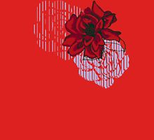 red rose sketch Womens Fitted T-Shirt