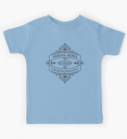 Consulting Detective (blue) Kids Tee