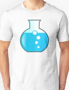 Bubbly Vial Glass, Blue Chemical Mix T-Shirt