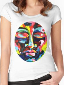 Color Full Face Women's Fitted Scoop T-Shirt