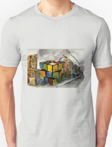 Rubix Cube in a Vacant Lot Unisex T-Shirt