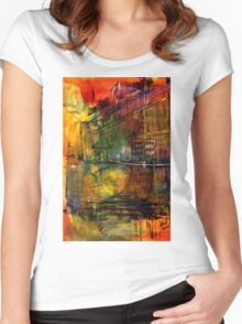 The House Jack Built in the Town Angela Imagined Women's Fitted Scoop T-Shirt