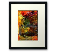 The House Jack Built in the Town Angela Imagined Framed Print
