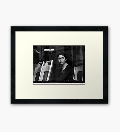 A Modern Mona ? Framed Print