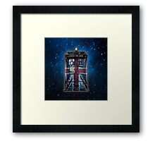 British Union Jack Space And Time traveller Framed Print