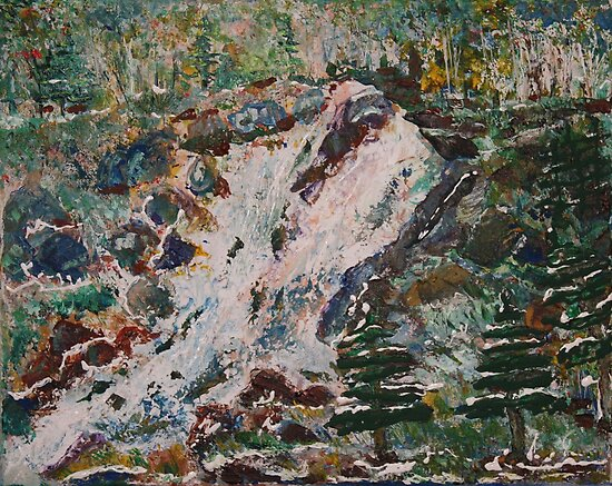 High Falls Near the Porcupine Ontario Canada by eoconnor
