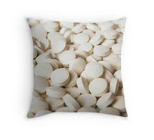 White Pills Throw Pillow