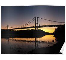 Dunvegan Bridge Sunset Poster