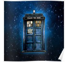 Space And Time traveller Box With yellow stained glass Poster