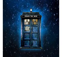 Space And Time traveller Box With yellow stained glass Photographic Print