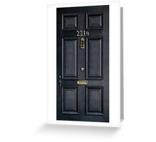Black Door with 221b number Greeting Card