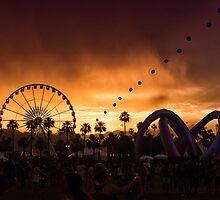 Stormy Coachella Sunset by Kristin Repsher