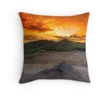 Mud Volcanoes Throw Pillow