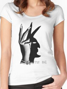 TRUE EVIL (WHITE) Women's Fitted Scoop T-Shirt