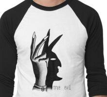 TRUE EVIL (WHITE) Men's Baseball ¾ T-Shirt